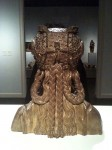 The back of the wooden bust