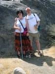 Aviva and Bob on the trail