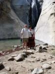 Aviva and Bob at the falls