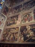A wall of frescoes
