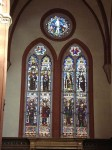Stained glass windows of the Basilica