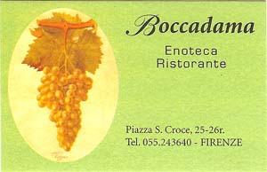 Boccadama card