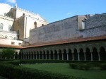 The four corners of the Cloisters - the bottom right is the fountain