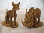 Two paper models of animals I got in a design store at the Louvre (they are made by d-torso)