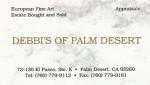 Debbi's of Palm Desert card