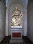A statue of Torrcello ouside La Specola