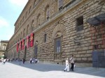 A view along the front of the Palazzo Pitti