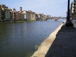 A view west down the Arno from the north end of the Ponte Vecchio