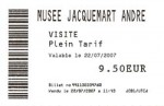 The ticket for the museum (they don't take the museum pass)