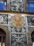The Medici emblem painted on a building