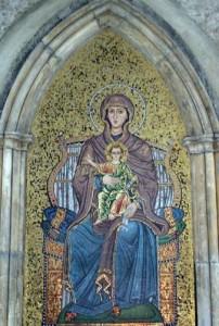 A mosaic in a niche