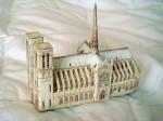 A paper sculpture of Notre Dame