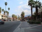 A view of Palm Springs and the mountains