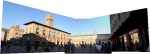 A panorama of the piazza from the Palazzo Comunale