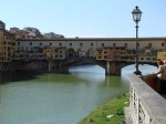 A postcard shot of the Ponte Vecchio from up river (where all the couples were necking)