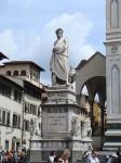 There's a statue of Dante outside Santa Croce