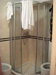 The shower in our Siena hotel room