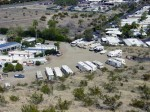 Overlooking a trailer park on the Araby trail