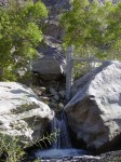 The lower falls and the USGS water level gauge
