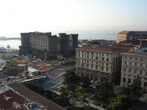 A view of Naples from our hotel