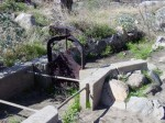 A water holding basin built by the indigenous residents of Tahquitz Canyon