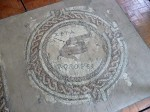 A floor mosaic fragment