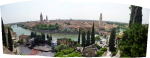 A panorama of Verona taken from the museum
