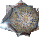 A combined (panorama) image of the whole ceiling