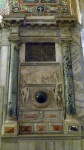 A niche inside the basilica - note the black 'ball'