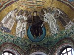 The fabulous mosaic over the altar - it's brilliant gold!