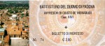 Front of the ticket for the bapistery