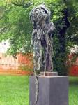 A sculpture from the garden