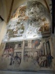 The right hand side of the right chapel, with Mantegna frescoes