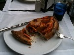 My Calzone at dinner - it was really good!
