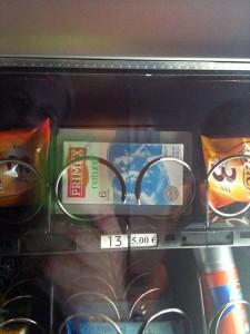 The vending machine in the Sheratin sold condoms