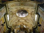 A detail from the ceiling over the altar