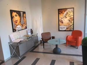 A room in the Ferrara hotel - it's quite modern