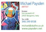 Michael Paysden's business card