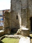 The tower on the other side is a ruin