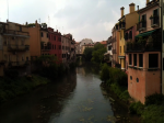 Padua along the river
