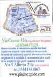 Pizzaria Cupido card (back)