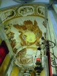 Part of the ceiling of the church