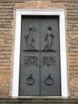 The main doors to the church