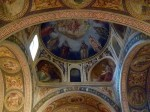 These frescoes were under active restoration when we visited - they are beautiful!