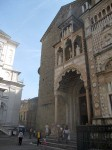 The facade of the church