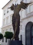 An interesting winged statue in Bergamo