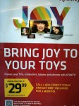 Bring Joy To Your Toys - A sign in the Columbus airport