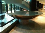 A full shot of the fountain in the Westin