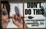 """""""Don't Do This"""" outside Continental Art Supplies"""