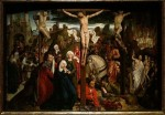 A crucifiction panel by a French artist from the Middle Ages exhibit
